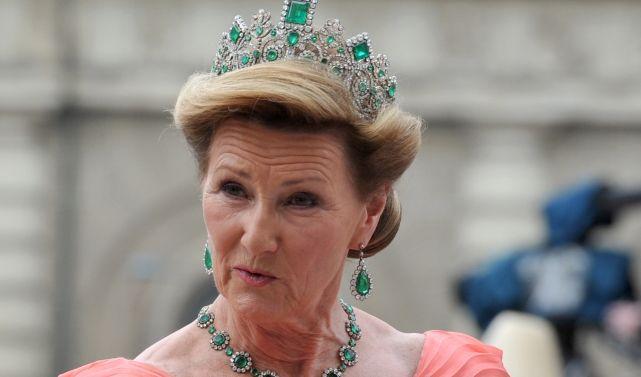 Königin Sonja von Norwegen krank