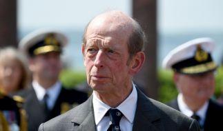 Der Herzog von Kent bei einer Gedenkveranstaltung. (Foto)