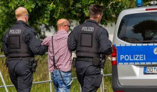 """Die Polizei zog nach dem rechtsextremen Festival """"Schild und Schwert"""" in Ostritz eine positive Bilanz - die Veranstaltung sei friedlich verlaufen. (Foto)"""