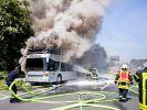 Feuer-Inferno auf Autobahn A2