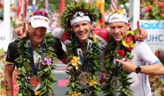 Sebastian Kienle, Jan Frodeno und Patrick Lange konnten beim Ironman auf Hawaii überzeugen - jetzt machen sich die deutschen Athleten für den Showdown bei der Ironman-Europameisterschaft in Frankfurt. (Foto)