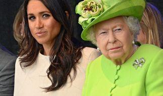 Queen Elizabeth II. und Meghan Markle. (Foto)