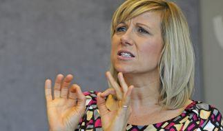 """Andrea Kiewel hat als ehemalige Leistungssportlerin keinen Grund, dem """"ZDF Fernsehgarten""""-Triathlon am 11. August 2019 skeptisch entgegenzublicken. (Foto)"""