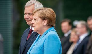 Angela Merkel sorgte beim Empfang des finnischen Ministerpräsidenten Antti Rinne mit einem neuen Zitter-Anfall für Bestürzung. (Foto)
