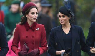 Gute Miene zum bösen Spiel? Das Verhältnis zwischen Herzogin Kate und ihrer Schwägerin Meghan Markle soll angespannt sein. (Foto)