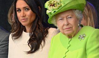 Meghan Markle und Queen Elizabeth II. fanden sich dieser Tage Seite an Seite in den Royal-News wieder. (Foto)