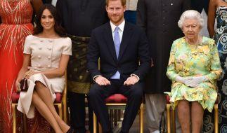 Dicke Luft zwischen Meghan Markle, Prinz Harry undQueen Elizabeth II.? (Foto)