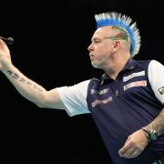 Patriot bis in die Haarspitzen: Zur Darts-Team-WM 2019 trat der gebürtige Schotte Peter Wright in den blau-weißen Farben seiner Heimat ans Oche.
