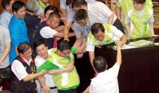 Gewalt im Parlament gibt es auch in Taiwan, wenn es beispielsweise um Atomkraft geht. (Foto)