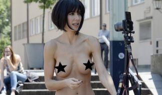 Nacktkünstlerin Milo Moiré ist immer für einen Skandal gut. (Foto)