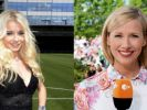 "Mia Julia Brückner wird im ""ZDF-Fernsehgarten"" von Moderatorin Andrea Kiewel begrüßt. (Foto)"