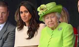 Herzogin Meghan bekommt von Queen Elizabeth II. zum 38. Geburtstag angeblich eine Standpauke geschenkt. (Foto)