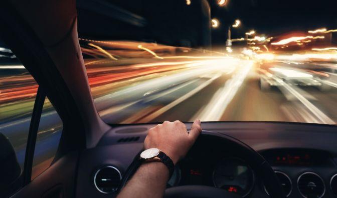 Illegales Straßenrennen auf Autobahn A3