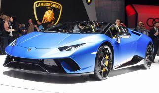 Ein Lamborghini wie diesen versenkte das Playboy-Model im Pool. (Foto)