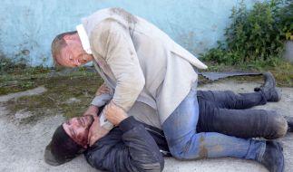 Der Streit zwischen Erik (Patrick Heinrich) und Jan (Markus Ertelt)eskaliert. (Foto)