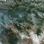Satelliten-Aufnahmen zeigen die Waldbrände im Amazonas.