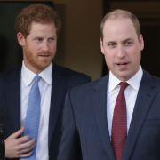 Prinz William ist nicht von Prinz Harrys Verhalten begeistert. (Foto)