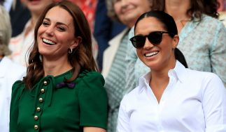 Kate Middleton und Meghan Markle in Wimbledon. (Foto)