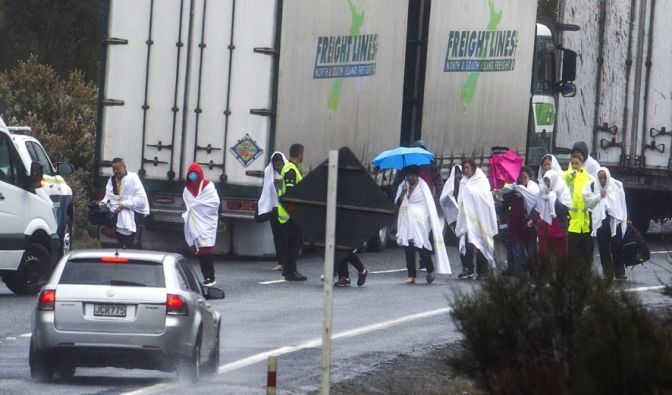 Bus-Unfall in Rotorua, Neuseeland
