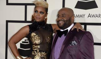 Musikproduzent LaShawn Daniels, hier mit seiner Ehefrau April Daniels bei den Grammy Awards 2014, ist mit 41 Jahren gestorben. (Foto)