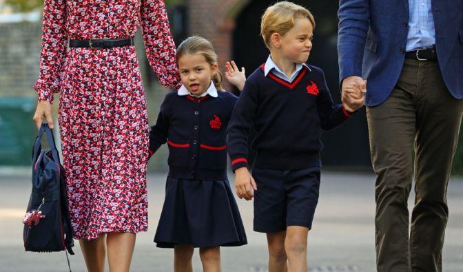 Prinzessin Charlotte am 1. Schultag