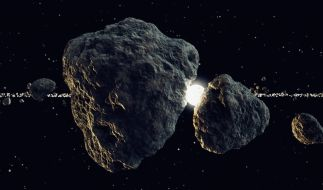 Beinahe täglich ziehen Asteroiden sehr nah an der Erde vorbei. (Foto)