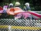 Die Fahrzeuge von Juan Manuel Correa aus den USA und Anthoine Hubert aus Frankreich wurden bei dem schlimmen Crash in der zweiten Runde völlig zerstört. (Foto)