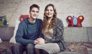 Sarafina Wollny und Peter Heck nach dem Ja-Wort (Foto)