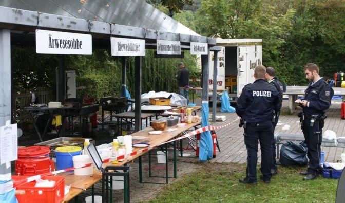 Explosion bei Backesfest in Freudenberg