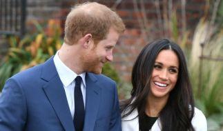 Prinz Harry und Meghan Markle bei der Bekanntgabe ihrer Verlobung. (Foto)