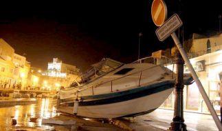 2006 verwüstete eine Rissaga den Hafen vonCiutadella. (Foto)