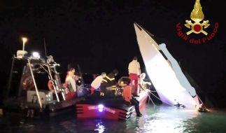 Ein Foto zeigt das Wrack des verunglückten Rennbootes. (Foto)
