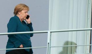Angela Merkel beim Treffen des Koalitionsausschusses im Kanzleramt. (Foto)