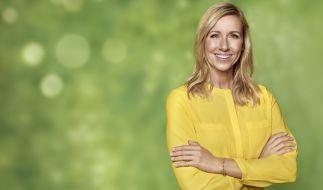 """Andrea Kiewel gab im """"Fernsehgarten"""" wieder Vollgas. (Foto)"""