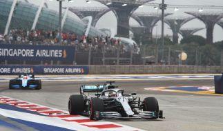 In der Formel 1 gewann in Singapur Lewis Hamilton das zweite Freie Training. (Foto)