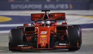Sebastian Vettel crashte in Sao Paulo. (Foto)