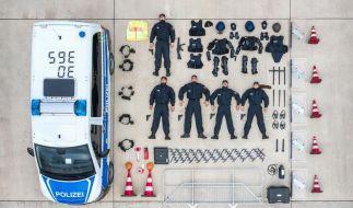 Dieses Foto der Bundespolizei zur #TetrisChallenge hat bei Instagram tausende Likes bekommen. (Foto)
