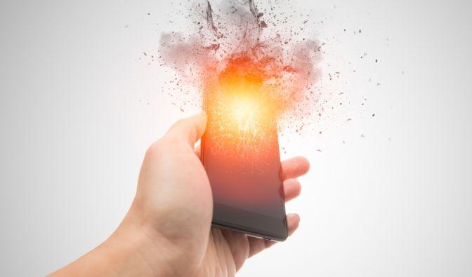 Smartphone-Explosion beim Aufladen