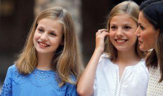 Prinzessin Leonor (l) gehört zum Club der künftigen Königinnen. (Foto)