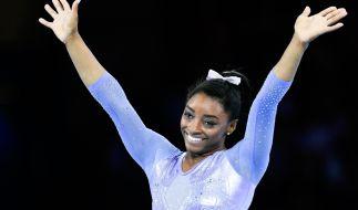 Simone Biles aus den USA bricht weiteren Rekord. (Foto)