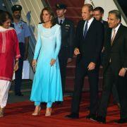 Prinz William und Herzogin Kate begannen am Montag, unter strengen Sicherheitsbedingungen ihre fünftägige Reise nach Pakistan.