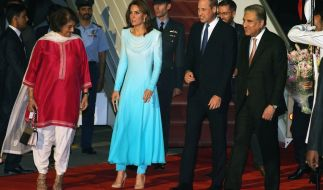 Prinz William und Herzogin Kate begannen am Montag, unter strengen Sicherheitsbedingungen ihre fünftägige Reise nach Pakistan. (Foto)