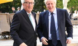 Boris Johnson und der noch amtierende EU-Kommissionspräsident Jean-Claude Juncker bestätigten am Donnerstag die Brexit-Einigung. (Foto)