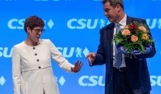 Markus Söder, CSU-Parteivorsitzender und Ministerpräsident von Bayern und Annegret Kramp-Karrenbauer (CDU) (Foto)