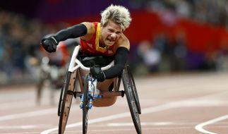 Die Rollstuhlleichtathletin Marieke Vervoort aus Belgien, hier bei den Paralympischen Spielen 2012 in London, ist im Alter von 40 Jahren gestorben. (Foto)