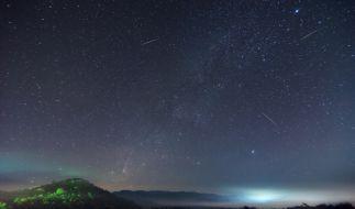 Die Leoniden flitzen im November über den Nachthimmel. (Foto)
