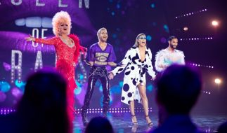 "Olivia Jones, Bill Kaulitz, Heidi Klum und Conchita Wurst in der Auftaktfolge zu ""Queen of Drags"". (Foto)"