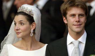 Prinz Emanuele Filiberto von Savoyen und seine Braut. (Foto)