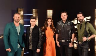 "Die ""The Voice Senior""-Coaches 2019: Sasha, Michael Patrick Kelly, Yvonne Catterfeld, Sascha Vollmer und Alec Völkel. (Foto)"