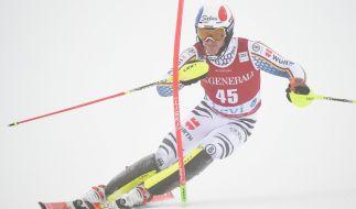 Linus Straßer legt beim Ski-alpin-Weltcup 2019/20 volle Konzentration an den Tag. (Foto)